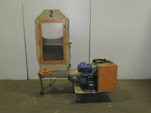 Polymer Systems 88 Ae Plastic Granulator 3 Hp 5 Infeed Auger