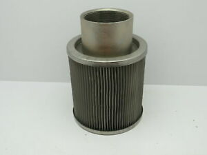 Stainless Hydraulic Oil Strainer Suction Filter Element 4 Npt