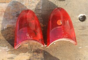 1954 Plymouth Nos Tail Light Tailight Lenses Pair of