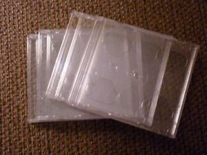 Standard Double Cd Jewel Case Box With Clear Tray 3 8 Thick 4 pack Nice Quality