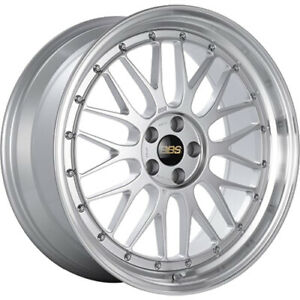 4 Staggered 19x8 5 19x9 5 Bbs Lm Silver Machined 5x120 32 35 Wheels Rims