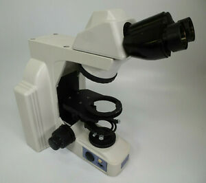 Nikon Eclipse Model E400 Microscope Base W Binocular Head Light Source read