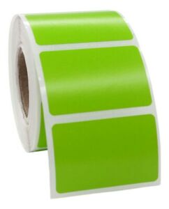 Zebra Eltron 1 5x1 Color 1 1 2 X 1 Green Direct Thermal Labels 32 Rolls 520