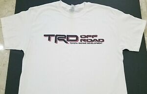 New Trd Off Road T Shirt 4x4 Truck Toyota Tundra Jdm Tacoma Nos Turbo White
