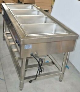 Commercial 4 well Food Warmer Steam Table Countertop Kitchen Supply 110v New