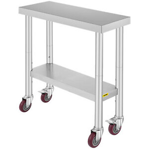 12 X 30 Kitchen Work Table With Wheels Commercial Kitchen Restaurant Table