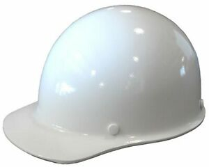 Msa Fiberglass Skullgard Hard Hat White W Staz on Pin Lock Suspension large
