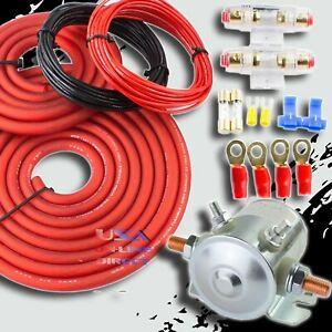Heavy Duty 4 Gauge Cable Dual Auxiliary Battery 200 Amp Isolator Kit Universal