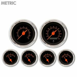 6 Ga Set Metric Muscle Rd Txt Black Or Vintage Nedl Chrom Trm Rngs Kit Diy