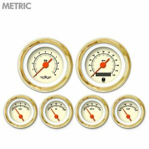 6 Ga Set W emblem metric Muscle Tan Or Vintage Nedl Gold Trm Rngs Kit Diy