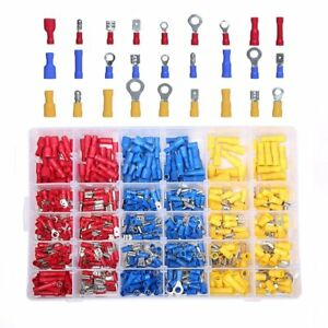 480 Piece Electrical Wire Terminal Kit With Storage Box Ring Butt Spade Set