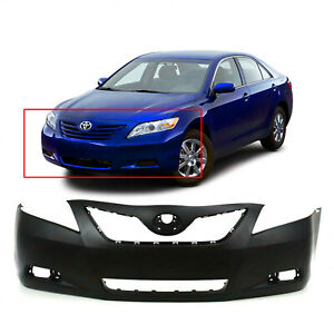 Primed Front Bumper Cover For 2007 2009 Toyota Camry Sedan Base Le Xle Ce Hybrid