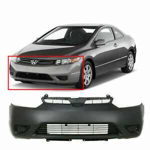 Primed Front Bumper Cover Fascia For 2006 2008 Honda Civic Coupe Dx g Ex Lx Si