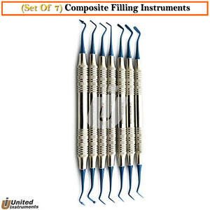 7pcs Dental Composite Filling Instruments Resin Contouring Ball Tip Burnishers