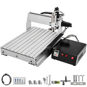 3 Axis Cnc Router Kit 6040 1000w Engraving Milling Machine 2400rpm Wood plastic