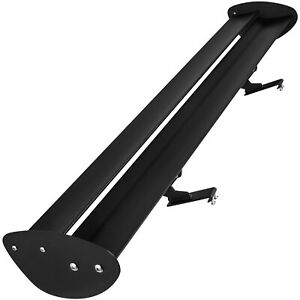 Gt Style 43 Aluminum Rear Trunk Low Mount Double Deck Racing Spoiler Wing Black