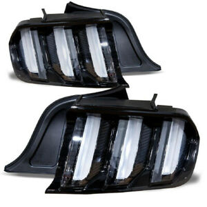 Fits 15 20 S550 Ford Mustang Euro Style Led Tail Lights Sequential Turn Signals