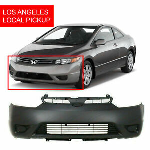 Primed Front Bumper Cover Fascia For 2006 2008 Honda Civic Dx G Ex Lx Si Coupe