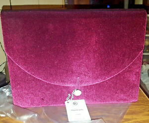 Velvet Fleuri Expandable 7 Pocket Folder Button Closure Maroon By Ubrand New