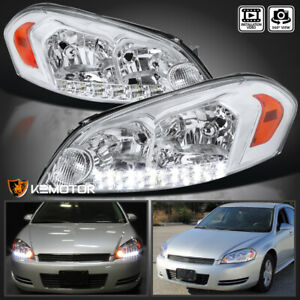 For 2006 2013 Chevy Impala 2006 2007 Monte Carlo Clear Led Headlights Left right