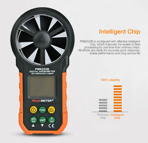 Pm6252b Digital Anemometer Meter With Usb For Wind Speed Wet Bulb Temperature
