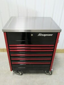 Snap On Black Red Trim Sidekiq Epiq Tool Box Cart Stainless Steel Work Top