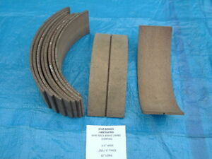 Nos Wire Back Brake Shoe Lining 1 Piece 3 1 2 Wide X 1 4 Thick X 12 Long Usa