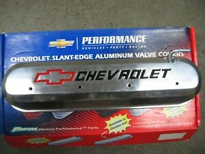 Small Block Chevy Ls polished Aluminum Valve Covers Proform 141 264