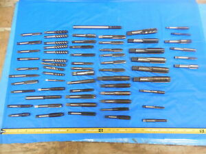 64pcs Lot Of Miscellaneous Taps Various Flute Styles And Sizes Cnc Shop Tooling