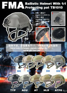 FMA New OPS Helmet Upgrade With 1:1 Protecting Pad Airsoft Paintball M L XL $85.49