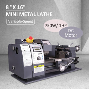 8 x16 Mini Metal Lathe Automatic Variable speed Dc Motor 750w Metalworking Tool