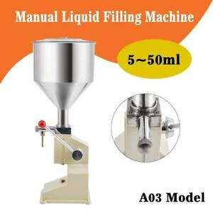 Liquid Filling Machine Cosmetic Filler For Cream Shampoo Paste Water Oil Manual