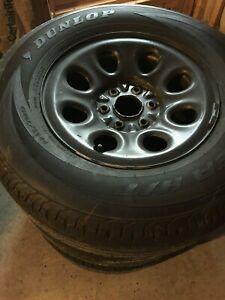 4 Chevy 17 Truck Wheels Dunlop Tires