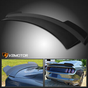 Fits 2015 2020 Ford Mustang Md Style High Kick Rear Trunk Lid Spoiler Wing Black