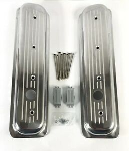 Center Bolt Valve Covers For Sbc 305 5 0l 350 5 7l Polished Ball Milled