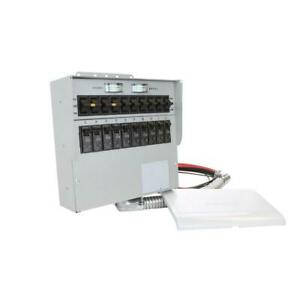 30 Amp 10 circuit Manual Transfer Switch With 2 pole 30 Amp Breaker