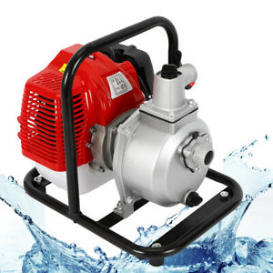 1 7hp 2 Stroke Petrol Water Transfer High Pressure Pump Irrigation Camping Hot