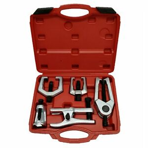 5pc Front End Service Tool Kit Ball Joint Separator Pitman Arm Tie Rod Puller Us