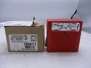 New Wheelock As 2475w fr Audible strobe Red Simplex P n 4903 9247