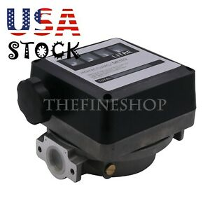 4 Digital Gasoline Petrol Oil Flow Meter Counter 20 120l min For Diesel us