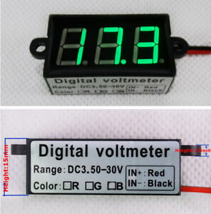 Micro 0 56 digital Voltmeter Dc3 50 30 0v Motorbike Car Waterproof Dustproof
