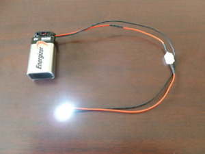 Prewired Led Light Assembly With On off Switch And 9 Volt Battery Connector