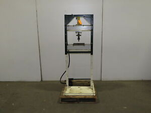 10 Ton H frame Manual Hydraulic Shop Press Enerpac Pump And Rc1010 Cylinder