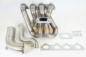 Plm D Series Top Mount Turbo Manifold With Up Pipes Dump Tube Hood Exit
