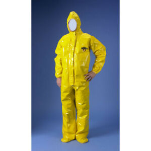 Lakeland Protective Suit Chemmax 4 Coverall 41155 4xl Expanded Back Hood Boots