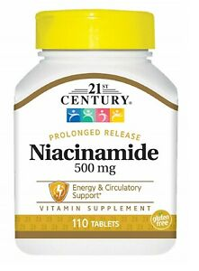 21st Century Niacinamide 500 mg Prolonged Release Tablets 110 Count 110 Count $4.49