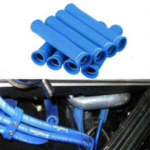 2500 Spark Plug Wire Boots Protector Sleeve Heat Shield Cover Blue For Ls1 Ls2