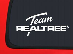 Team Realtree Official Logo White Hunting Window Decal Sticker