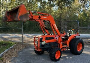 Kubota Diesel Tractor Loader 41 Hp Hydrostatic 4x4 Great Deal Look