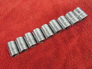 Snap On 1 2 Drive Metric 16 24 Mm 6 Point Shallow Socket Set